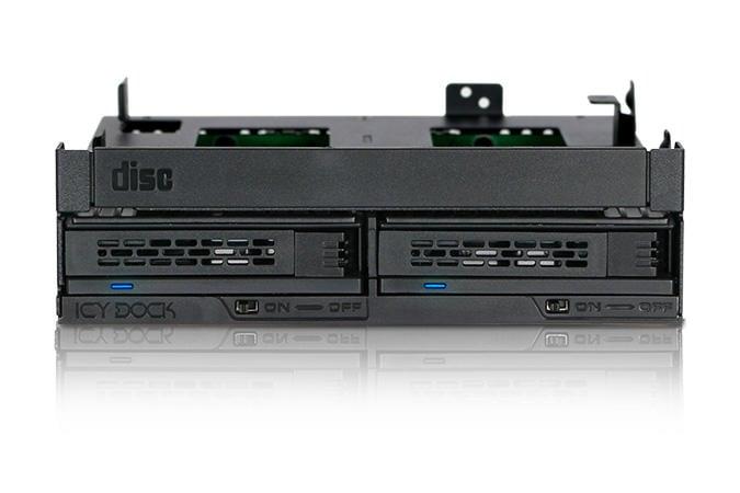 MB732SPO-B 兩顆式 2.5吋 SAS/SATA HDD & SSD+超薄/薄型光碟機空間 轉5.25吋