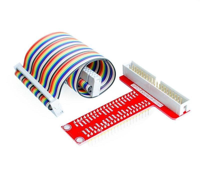 樹莓派 Raspberry Pi B+ 專用配件 T型GPIO擴展板+樹莓派40P排線 W3 061[9010663]