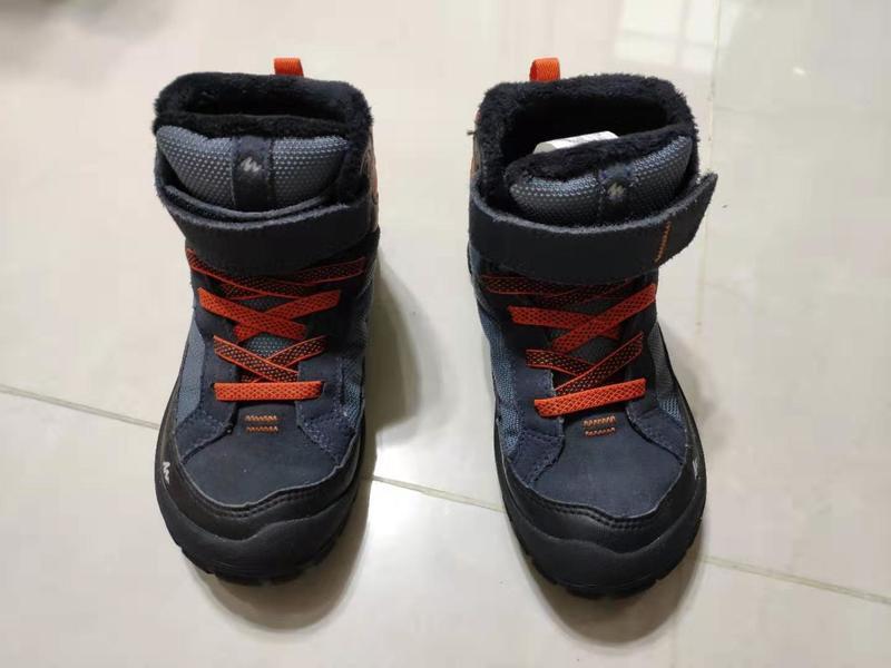 迪卡儂 兒童 高筒 登山鞋 防水鞋 雪靴 18cm