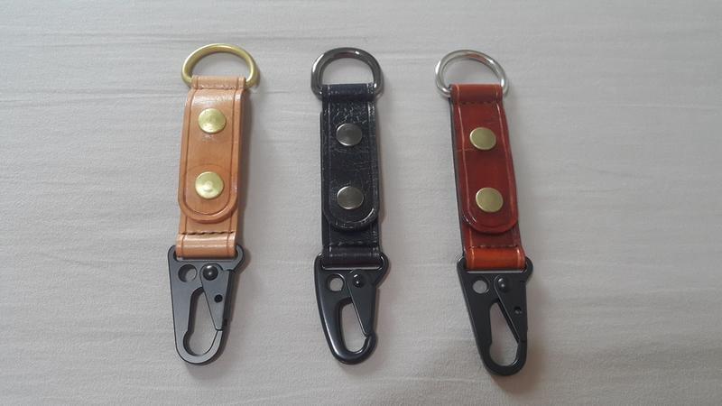 植鞣革手作 雙頭掛勾 鑰匙扣 扣帶 掛扣 掛鈎 腰帶扣