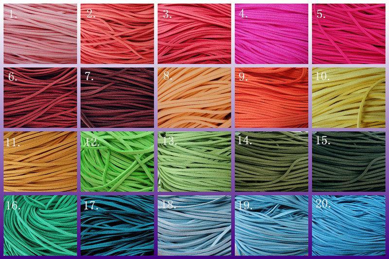 小綠蛙精品&手作材料/韓國絨方皮繩/1公尺4元/(100條以上3.6元/條)/(500條以上3.2元/條)/37色可挑色
