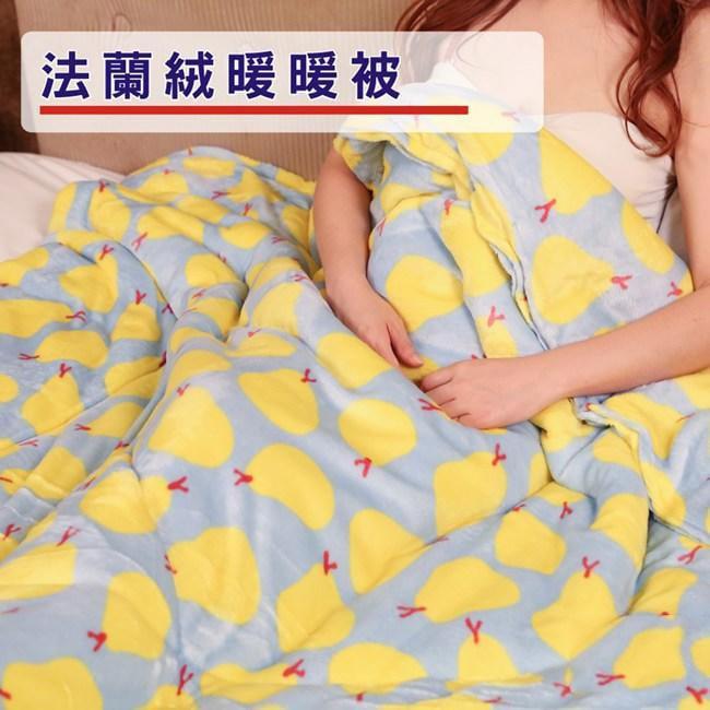 【創樂家居】小香梨法蘭絨暖暖被 /棉被 I-D-PW007-12