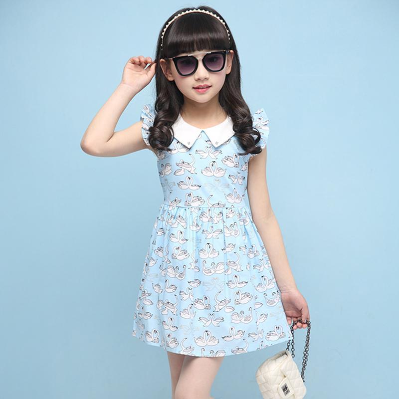 2016夏季新款韓版大童裝小女孩夏裝純棉女童背心連衣裙兒童夏裙子