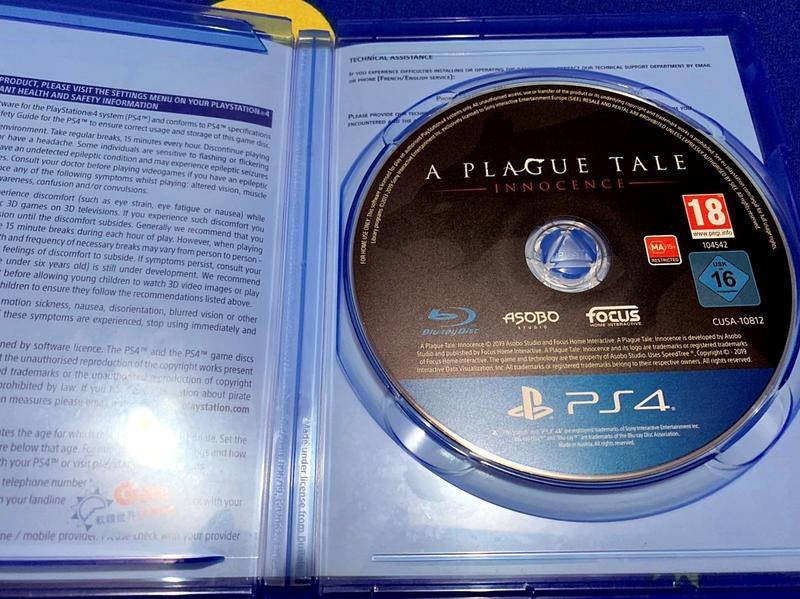 幸運小兔 PS4遊戲 PS4 瘟疫傳說 無罪 中文版 A Plague Tale Innocence