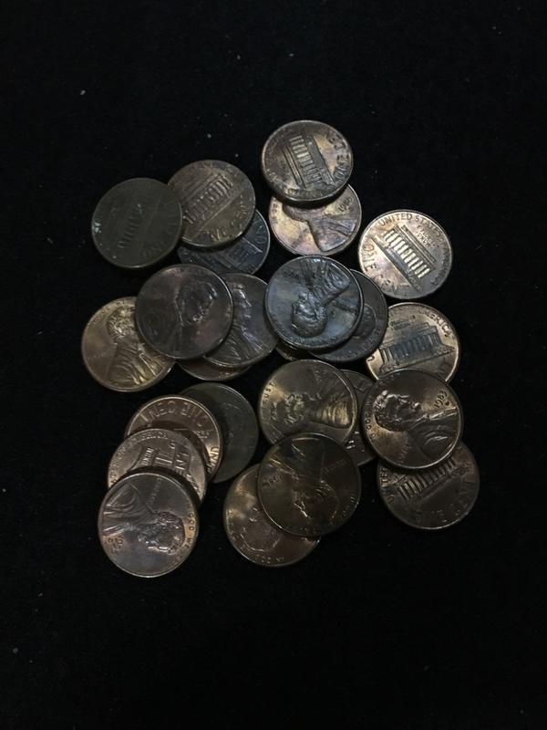 外國錢幣美國一分24枚