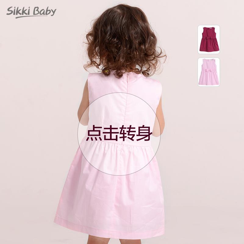 女童夏裝連衣裙2寶寶夏季純棉裙子3小童背心裙5兒童公主裙1-6歲4