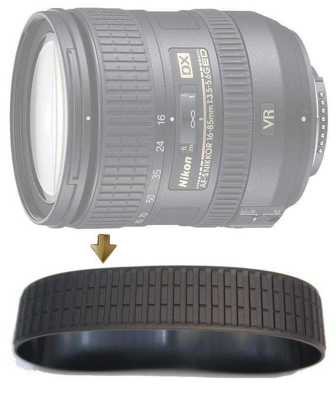 Zoom Rubber Ring for Nikon 16-85mm F3.5-5.6G VR 變焦環