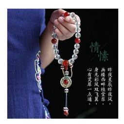 【SG382】念珠(人造水晶)延禧攻略同款富察皇后秦嵐 天然白水晶清宮廷十八子手串 手鍊