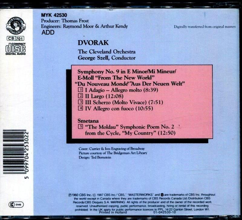 CBS老版--塞爾 George Szell : 德伏札克交響曲 # 9 + 莫爾島河