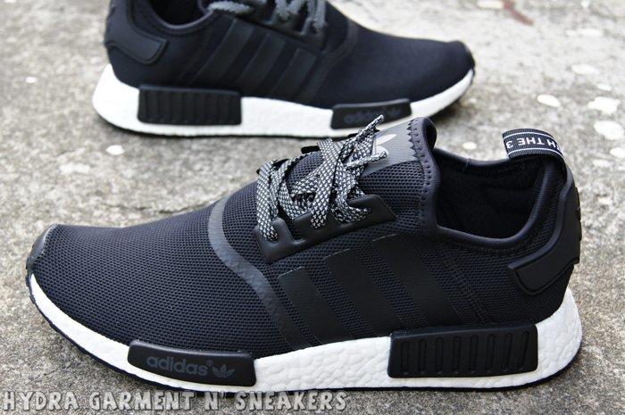 official photos 4cb83 0834c 【HYDRA】Adidas NMD R1 Boost 黑白 二代 反光鞋帶 限量 日標 慢跑 網面 【S31505】