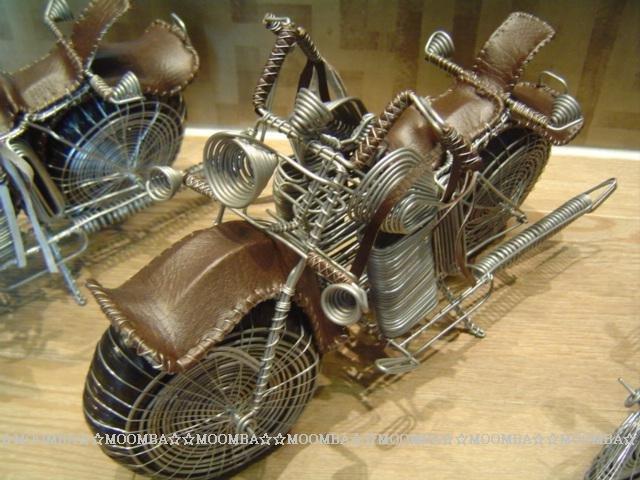 ☆MOOMBA☆ South Africa 鐵線 重型機車 摩托車 / 南非 黑人 純手工製作 工藝品 / 中 尺寸 可可色