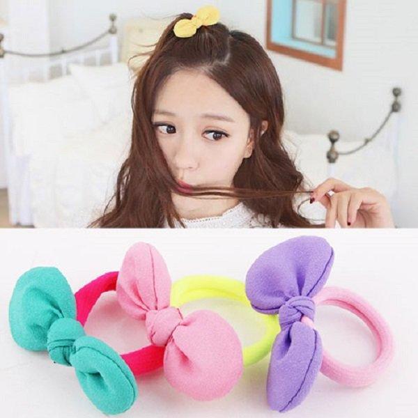 ★11-shop★韓國甜美可愛螢光彩色撞色兔耳朵蝴蝶結髮繩 橡皮圈髮束 女款頭飾★現+預(B9981)