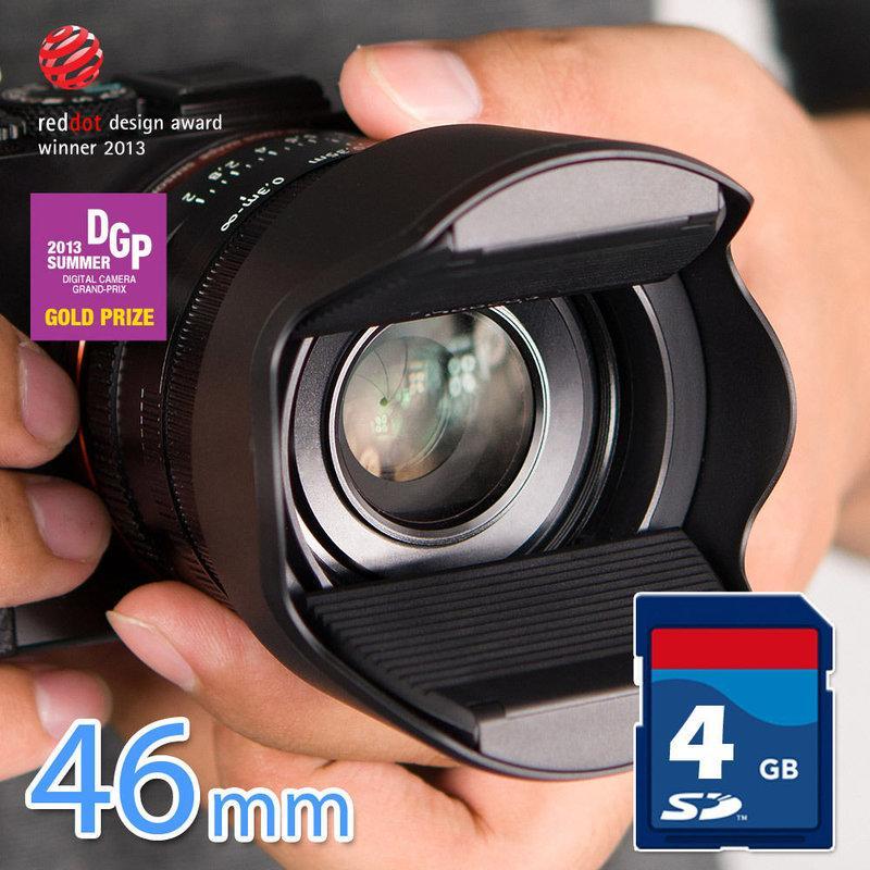 又敗家@台灣Hoocap遮光罩鏡頭蓋TM46適Sigma適馬19mm f2.8 30mm 60mm EX DN f/2.8取代46mm遮光罩46mm螺紋螺口46mm螺牙遮光罩1:2.8