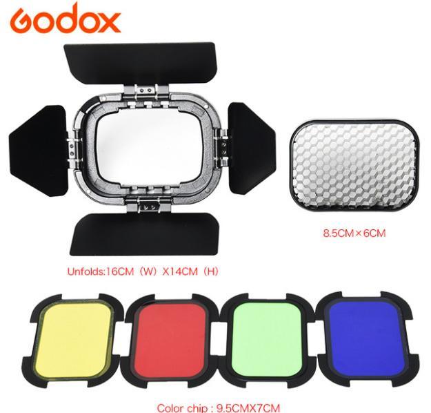 呈現攝影-Godox神牛 BD-07 四葉片套組 AD200專用 四葉片+濾色片+蜂罩片閃光燈