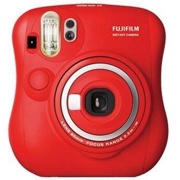 FUJIFILM富士 拍立得 mini25 限量紅 保固1年 贈卡通底片+束口袋+小相冊+透明相框+透明套