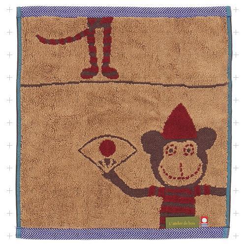 日本 L' atelier de bois 今治毛巾 小方巾 -日本猴Hikosa