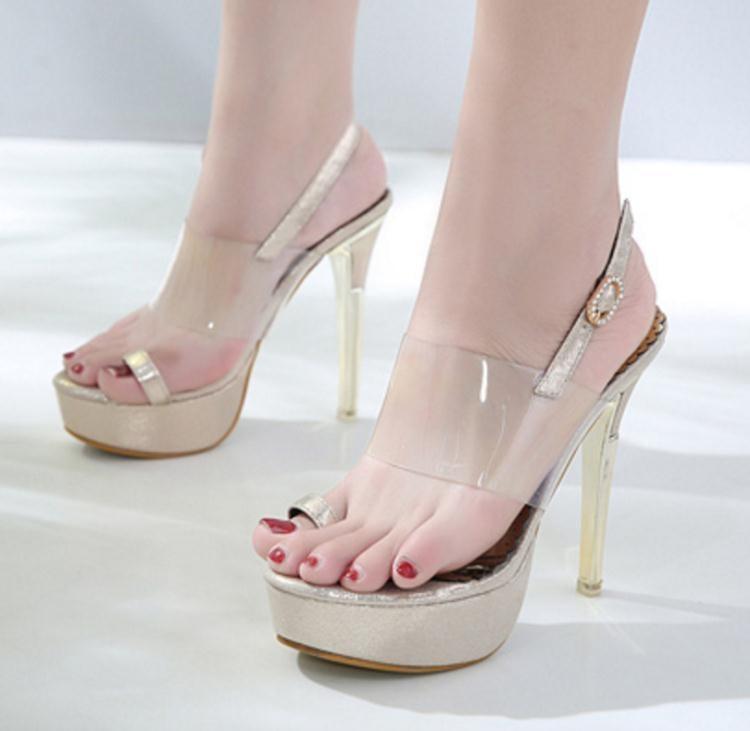 高跟涼鞋 高跟鞋 夏季新款歐美款一字扣涼鞋女細跟高跟羅馬女鞋韓版女鞋子ds4070 一級棒Al免運 可開發票