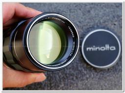 [CYF 二手攝影器材館] 極新Minolta MC Tele Rokkor-PE 200mm F4.5 #1529540 MD相容 約1966年生產 42年老鏡值得珍藏!
