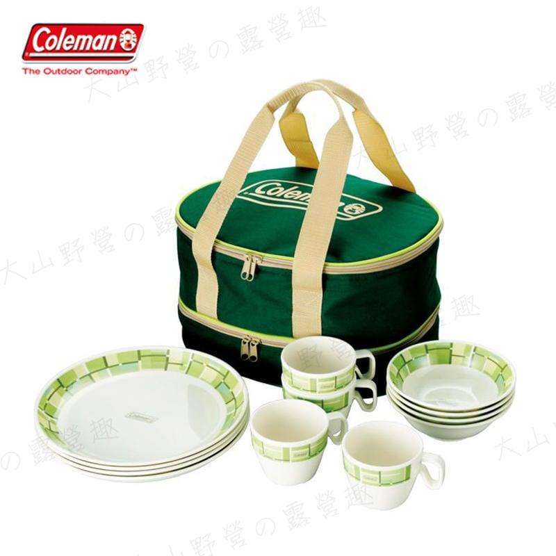 【大山野營】Coleman CM-9135 4人份美耐皿餐盤組 環保餐具 餐具組 碗 盤子 杯子 露營