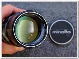 [CYF 二手攝影器材館] 極新Minolta MC Tele Rokkor-PE 200mm F4.5 #1534841 MD相容 約1970年生產 42年老鏡值得珍藏!