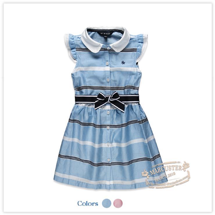 六一童裝夏季新款女童純棉短袖連衣裙小熊 兒童公主裙子韓版