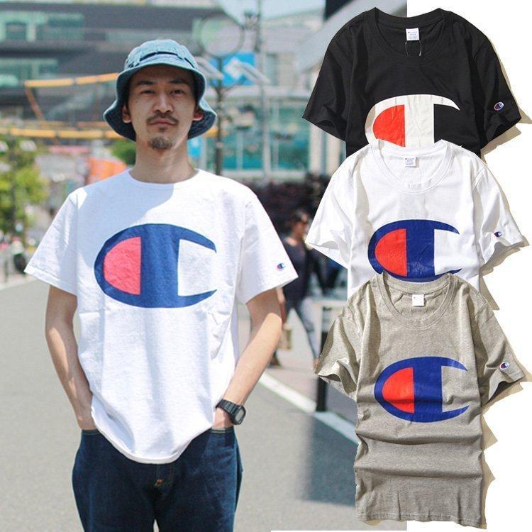 兩件免運 日本Champion 冠軍 短T 經典LOGO簡約純色  圓領短袖T恤