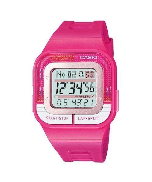 CASIO 卡西歐 10年電力‧慢跑運動方型計時電子錶 SDB-100-4A ( 100 1 4A ) 學生錶 女錶