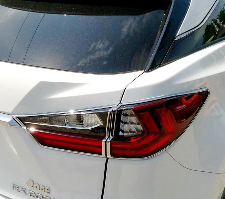 圓夢工廠 Lexus RX200t RX350 RX450h 2016~on 改裝鍍鉻銀 車燈框飾貼 後燈框 尾燈框