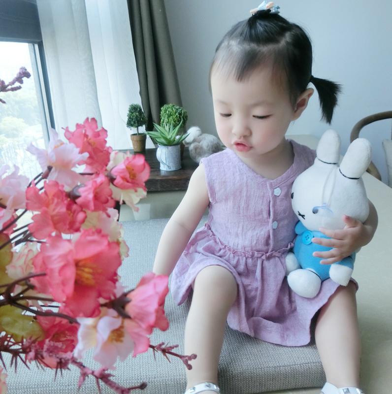 夏季棉麻嬰兒全棉寶寶連衣裙夏兒童純棉無袖背心裙女童小孩女童裙