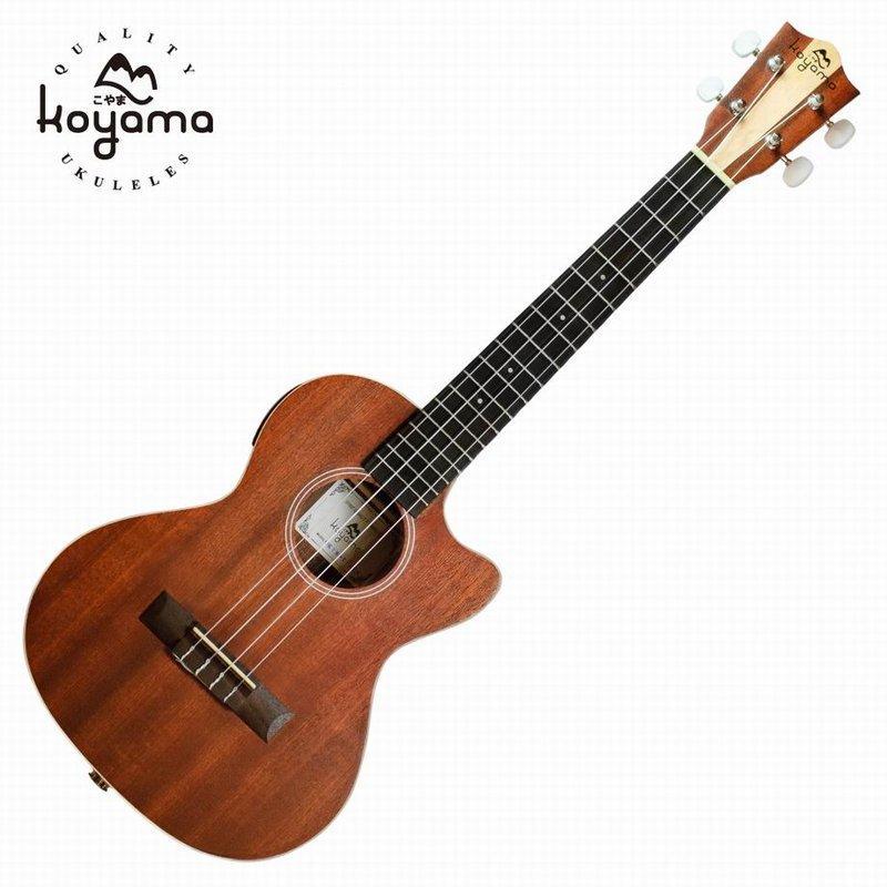 《小山烏克麗麗》KOYAMA KYM-T12CE 雙色琴頭 26呎 德國shadow拾音器 可插電 超值套組