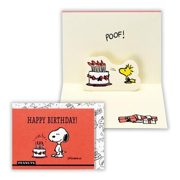 【莫莫日貨】全新 日本 hallmark 正版 Snoopy 史努比 立體螢光色 迷你小卡片 生日卡 卡片 15267