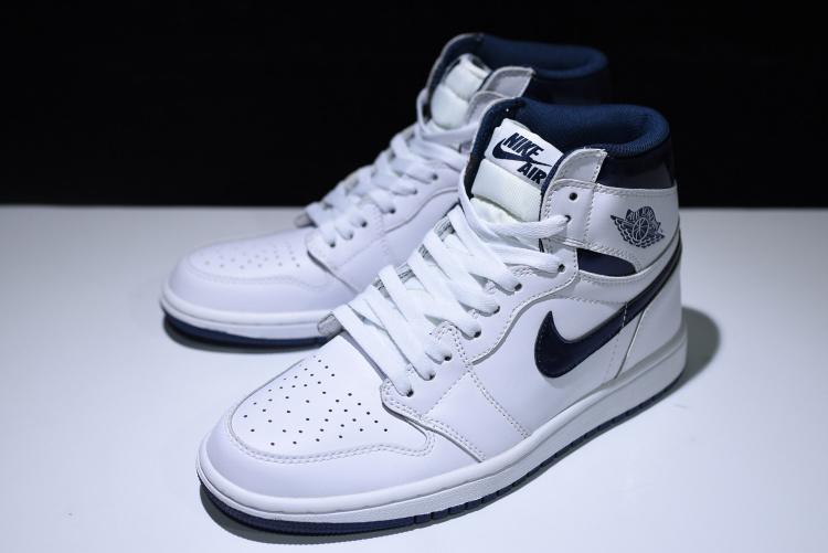 23a65d4cbe74 Air Jordan 1 OG Metallic Navy AJ1 白藍休閒運動鞋555088-106 - 露天拍賣