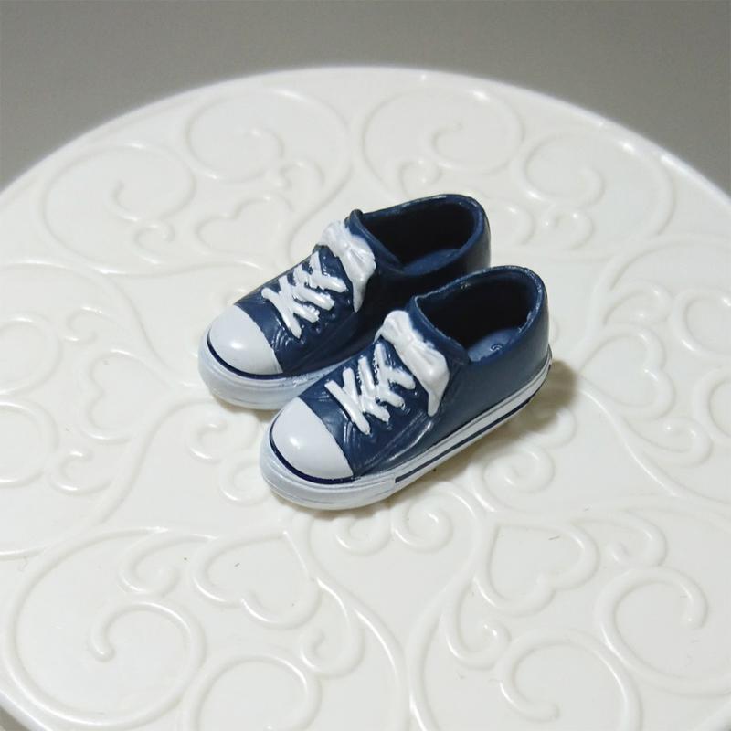 Licca 莉卡娃娃 鞋子 Snoopy史努比聯名款 運動鞋-深藍白鞋帶