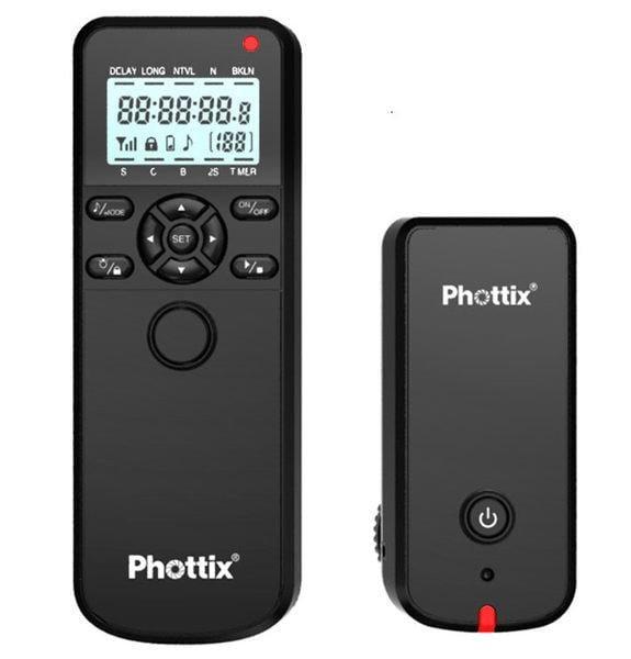 呈現攝影-PHOTTIX AION 無線定時快門線 可有線用 NIKON 可換線 提示音 可鎖 間隔/縮時攝影MC-36