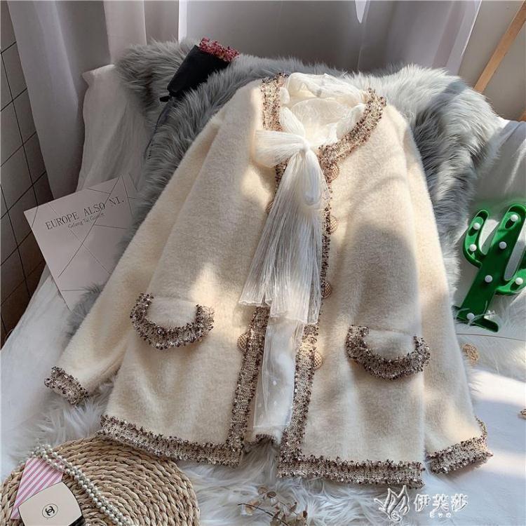 針織外套 毛衣開衫女寬鬆韓版小香風新款秋冬季慵懶風外穿針織外套加厚 熱銷