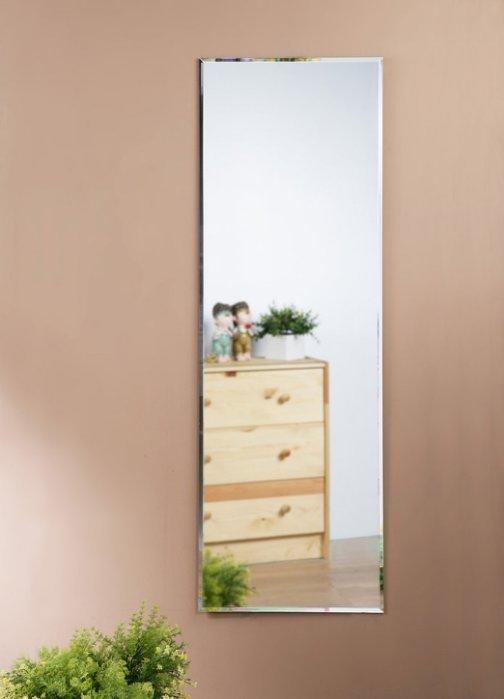 無框斜邊壁鏡 貼鏡 掛鏡 全身鏡【型號MR4125 】送雙面泡棉膠(40*120公分)