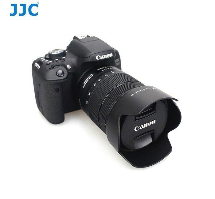 特價 公司貨JJC佳能EW-73D EOS 80D相機鏡頭18-135 USM遮光罩 可反裝