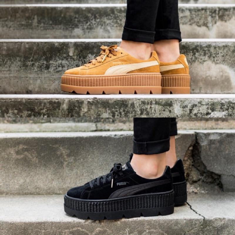 uk availability 4201e 26f06 PUMA FENTY Cleated Creeper Suede 厚底鞋 蕾哈娜 366268