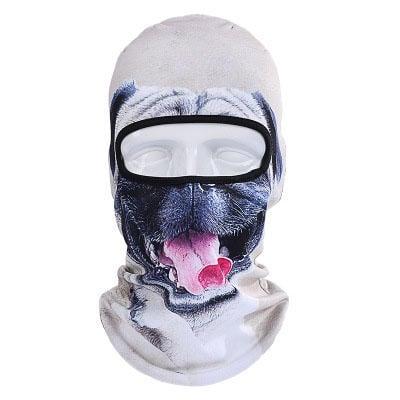 【哈狼族】3D動物騎行面罩戶外防風防曬頭套-哈巴狗款
