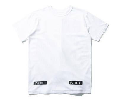 HBA off white鹿晗權誌龍同款 簡約條紋印花tee男女款圓領短袖T恤