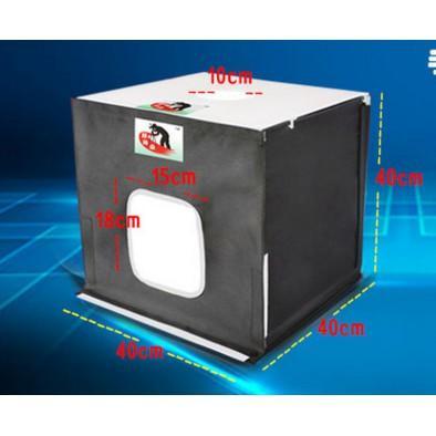 小型攝影棚40CM珠寶拍照道具靜物柔光箱拍攝臺折疊拍照燈箱套裝