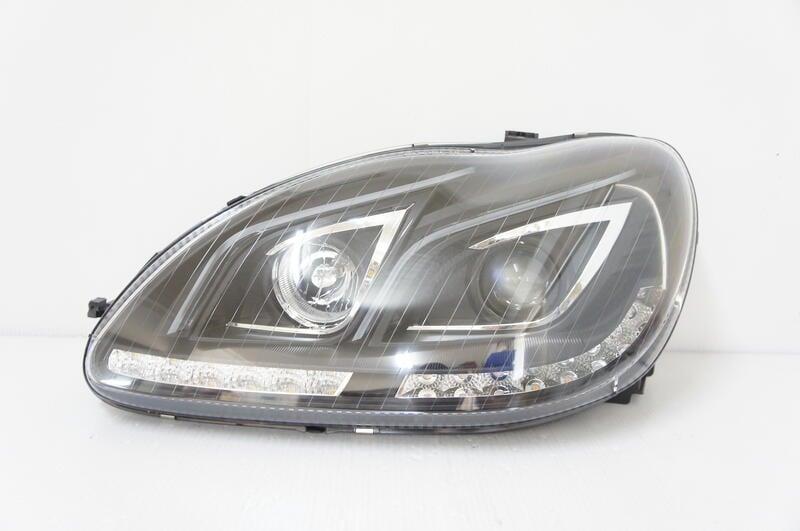 ~~ADT.車燈.車材~~賓士 W220 S320 S350 改類W212 雙燈眉魚眼大燈 LED流水跑馬方向燈