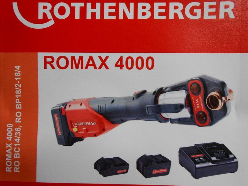 ASADA 德製ROMAX 4000 充電式不鏽鋼壓接機/水管壓接機**含稅($52000未稅)