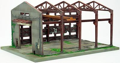 現貨  日版 TOMYTEC 1/150 N規 建物156 廢墟系列 解體中的建築 廢墟工廠