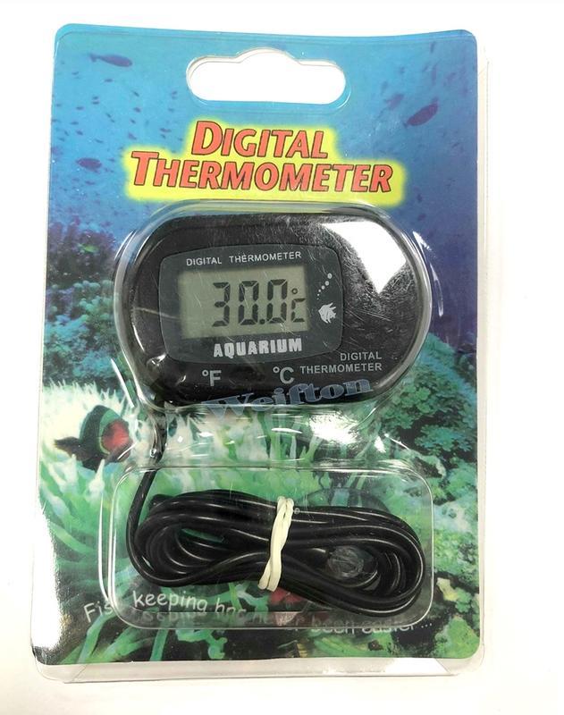 吸盤式溫度計 水族溫度表 攝氏華氏切換 帶探頭水族溫度計 數顯溫度計