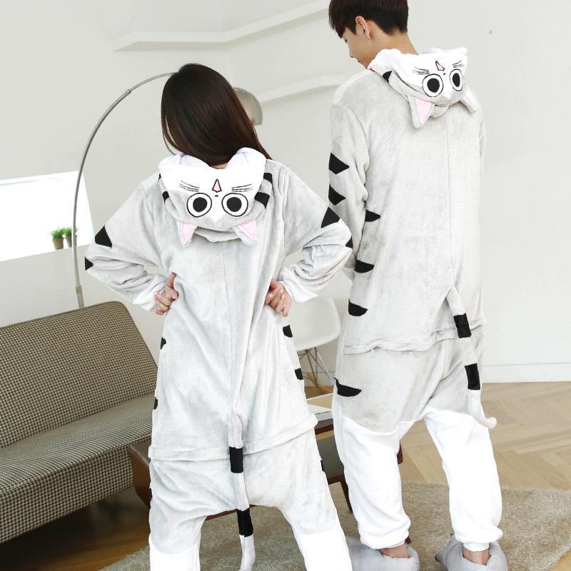 【現貨~四件免運】起司貓睡衣 卡通睡衣 卡通連身睡衣動物睡衣動物連身睡衣法蘭絨連身睡衣cosplay角色扮演服造型睡衣