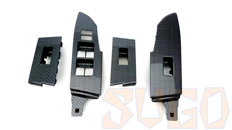 SUGO汽車精品 豐田COROLLA ALTIS 11/11.5代 專用原廠電動窗開關飾板 黑卡夢水轉印交換件