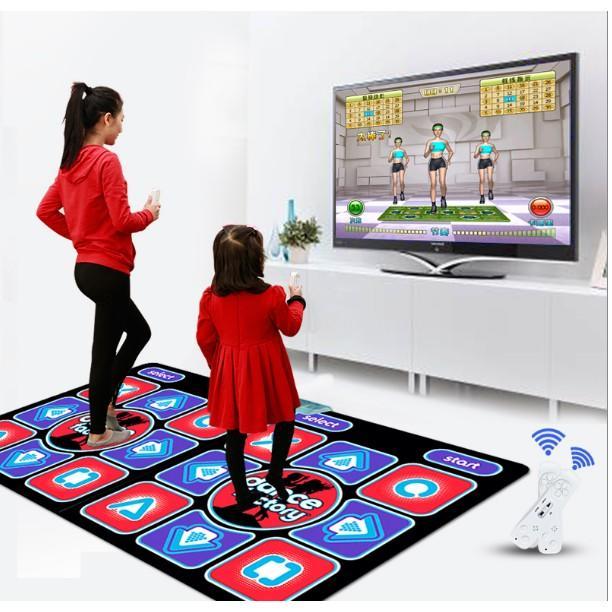雙人手舞體感跳舞毯 兩用電視加厚11MM帶瑜伽健身操跳舞機