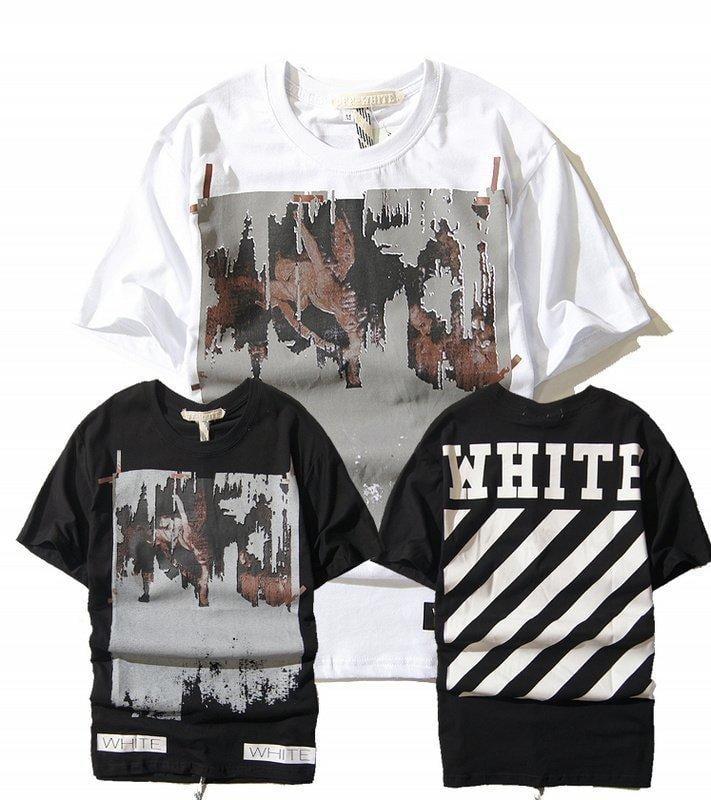 2016歐美街頭潮牌OFF WHITE宗教油畫半袖tee嘻哈純棉街頭t短袖T恤