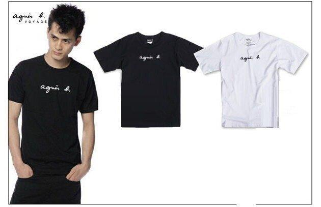 agnes b. 圓領T恤 男裝 女款  Stussy短袖T恤 情侶AF 經典款  POLO 運動T恤 附專櫃禮袋